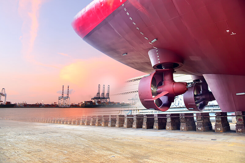 Thrusters Cargo Ship Twin Propeller